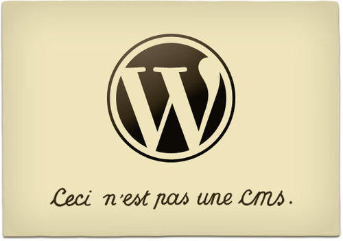 WordPress is not a CMS